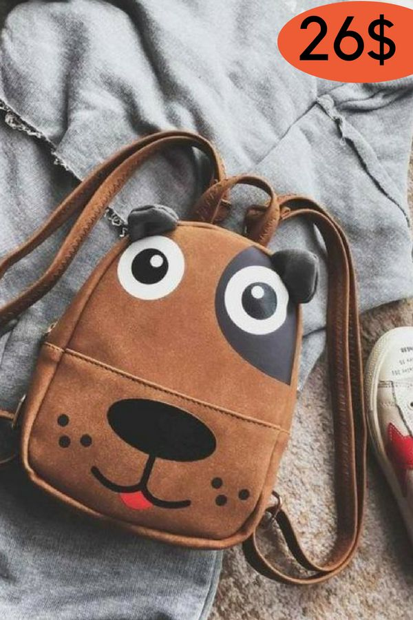 Bags Cute Animal Cartoon Dog Children Backpacks (med
