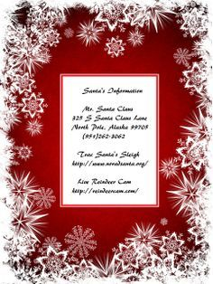 Santa's address, phone number, sleigh tracker and live reindeer cam