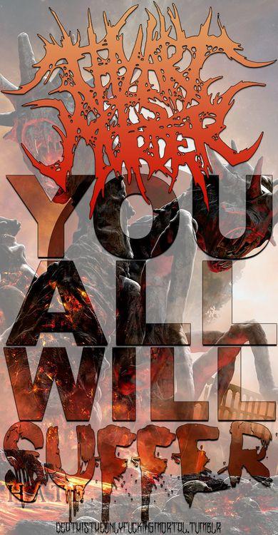 Thy Art Is Murder Lyrics Metal HATE Lyric Signs [ Metal Gorgeous Slam Metal Quotes