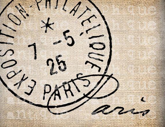 Antiquariato Parigi timbri di etichetta Script di AntiqueGraphique