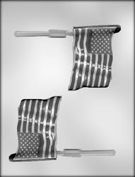 Large American Flag Sucker Chocolate Candy Mold - 90-14426 | Country Kitchen SweetArt