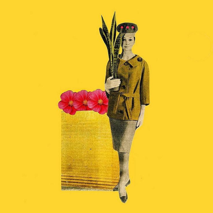 a burst of yellow to brighten your morning. collage by laura redburn.