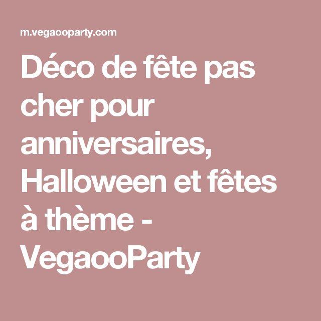Déco de fête pas cher pour anniversaires, Halloween et fêtes à thème - VegaooParty