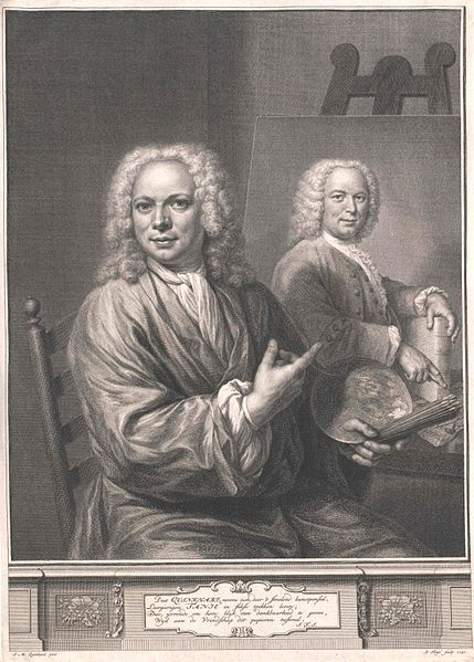Jan Maurits Quinkhard (1688–1772) engraver: Pieter Tanjé (1706–1761) Portrait of Jan Maurits Quinkhard (1688-1772), 1741