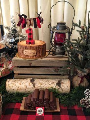 Little Lumberjack Birthday Party Ideas | Photo 2 of 33