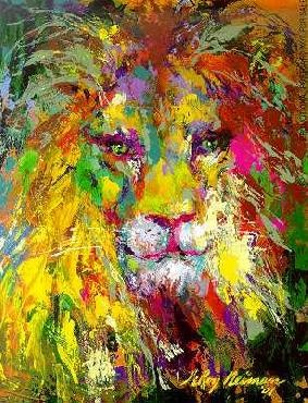 LeRoy Neiman Portrait of the Lion Hand Signed by LeRoy Neiman