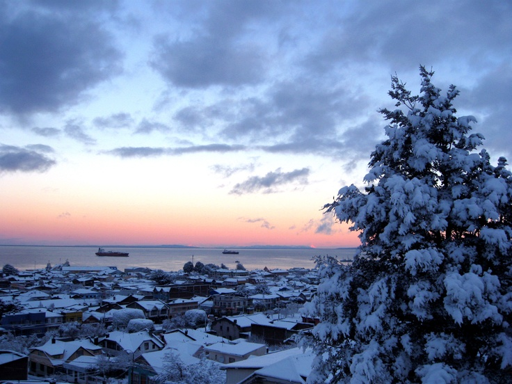 Punta Arenas desde el cerro La Cruz. Foto de Pablo Sotomayor.