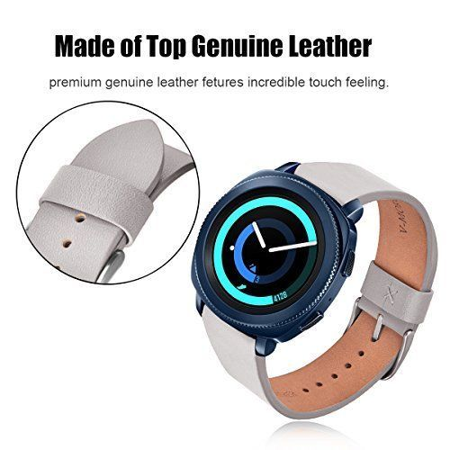For Samsung Gear Sport Soft Genuine Leather Women Band