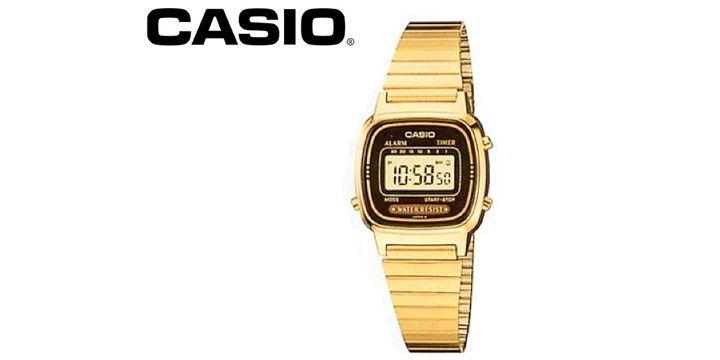 Reloj de Señora metálico Oro. Casio LA670. AHORRO 44%. 30.03€. #ofertas #descuentos