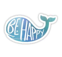 Happy Whale Sticker