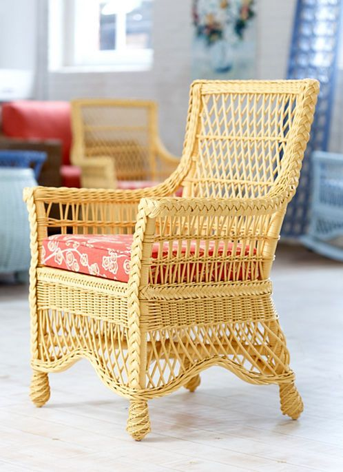 Wicker Dining Chair by Maine Cottage | The Francine Chair #wickerfurniture