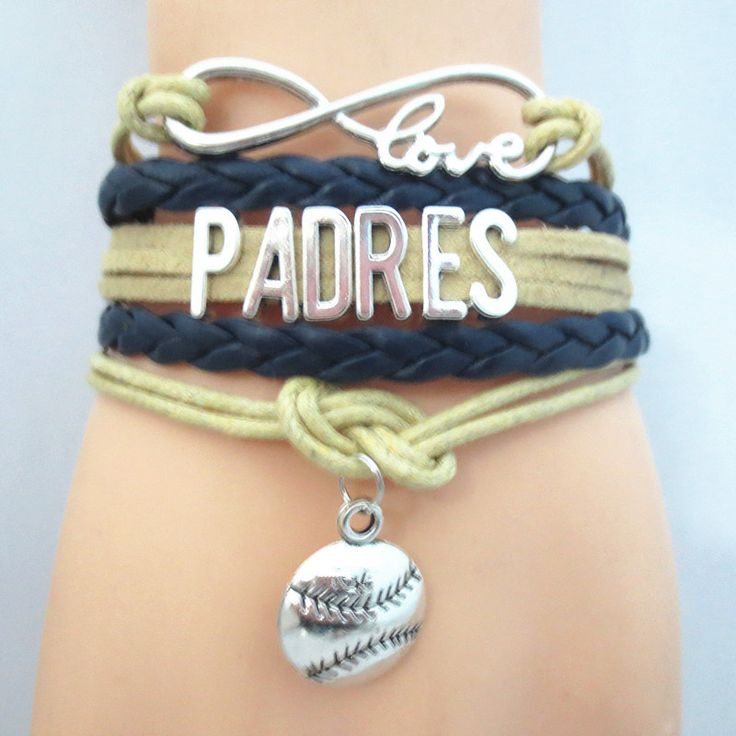 Infinity Love San Diego Padres baseball Bracelet BOGO