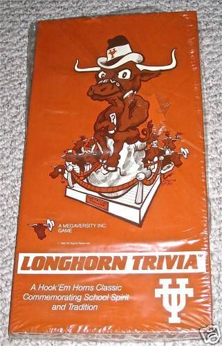 1985 UT (University of Texas) Longhorn Trivia Game *Never Played* #TexasLonghorns