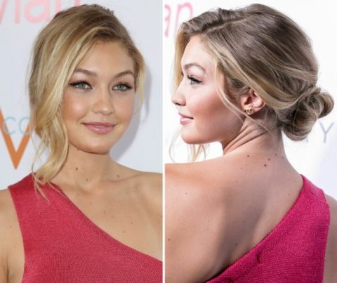 We love this loose side bun, well done Gigi!
