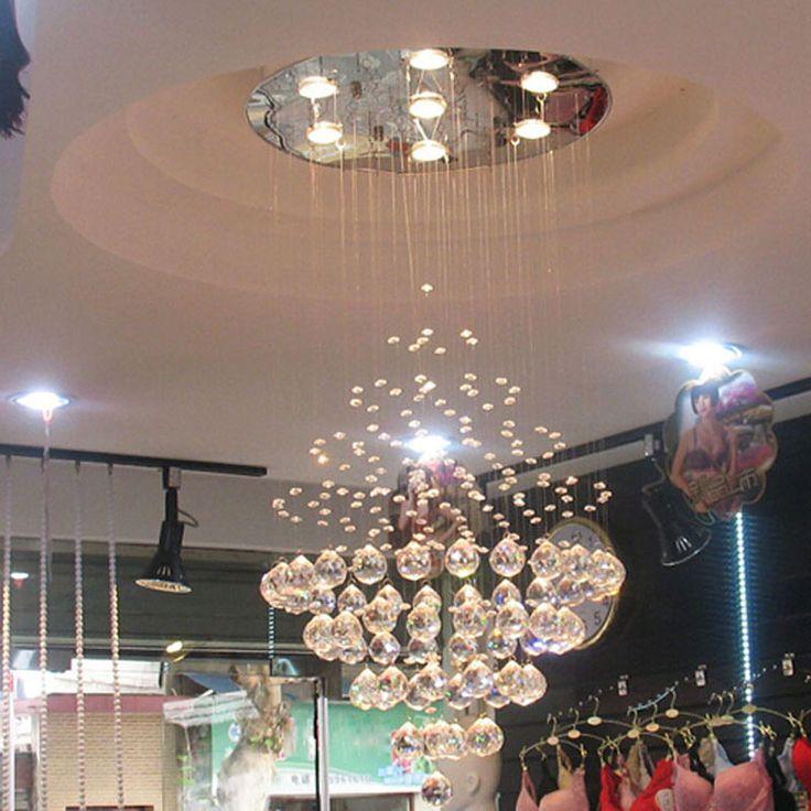 Лучшая цена современная K9 хрустальные люстры гостиная огни кругового конуса из светодиодов кристалл висит провод лампы ресторан огни купить на AliExpress