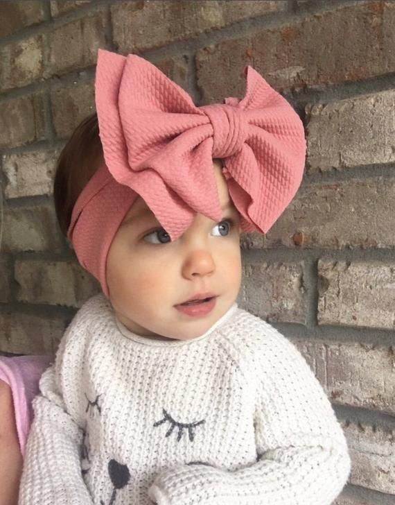 Black Ruffled Bow Headband All Sizes Available from Preemie to Adult : :