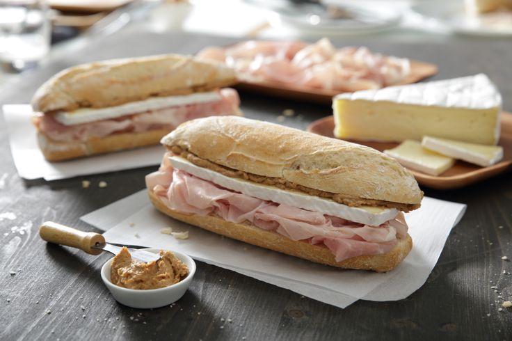 Panino Settebello - Prosciutto cotto praga, formaggio Brie, patè di vitello Panino Giusto