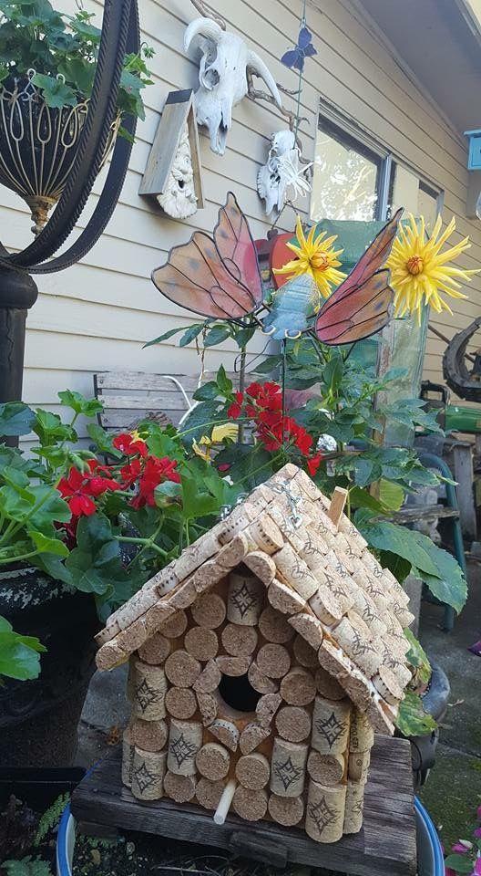 Red Diamond Wine  Wine cork birdhouse