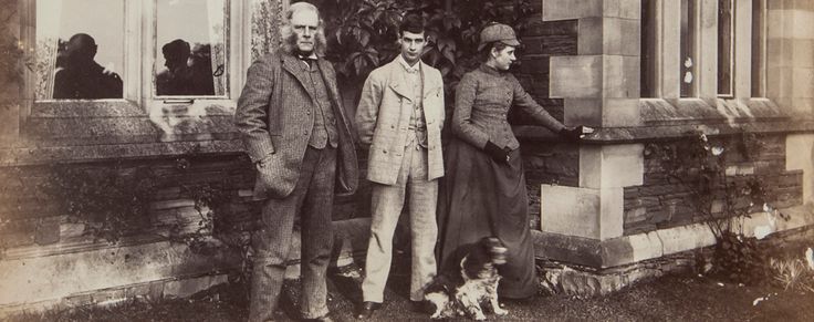 Beatrix Potter, her brother and father