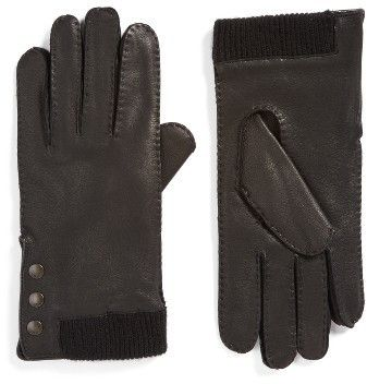 Men's John Varvatos Star Usa Deerskin Leather Gloves