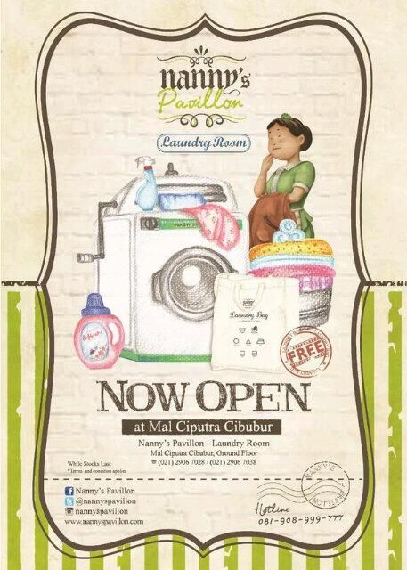 Let's get FREE* Laundry Bag only at Nanny's Pavillon Laundry Room, Mall Ciputra Cibubur ;)