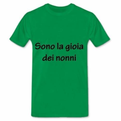 """Green T-Shirt:"""" Sono la gioia dei nonni"""" €17.00 http://www.12print.it/artshop/rainbowdesign/"""