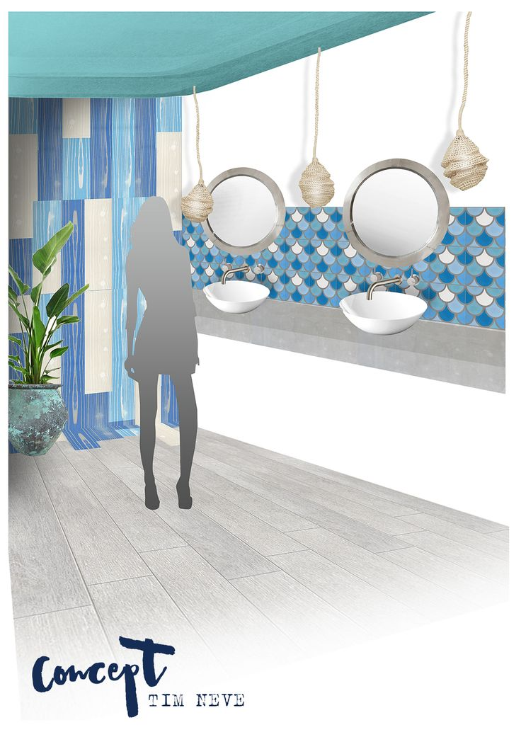 CONCEPT: Stylist Tim Neve designed these nautical-inspired bathroom interiors for the Beaches Hotel, Newcastle - now open.