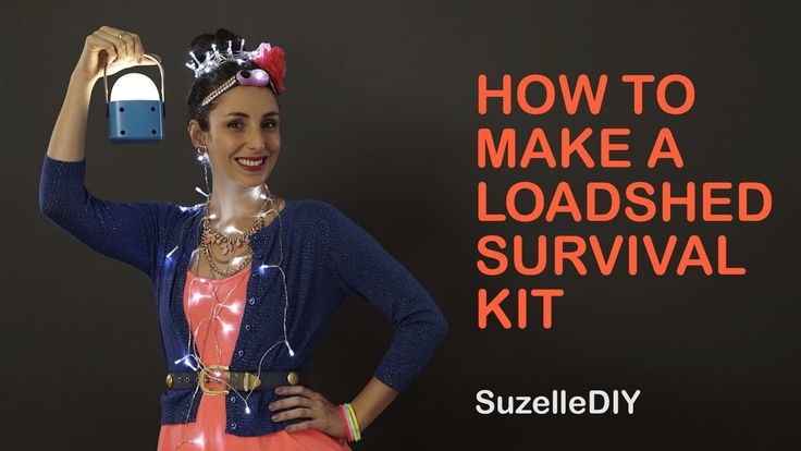 SuzelleDIY - How to Make a Loadshedding Survival Kit. In her newest video, @SuzelleDIY uses some of the products in our #HYPERDIY promotion this week to make a loadshedding a bit more bearable!