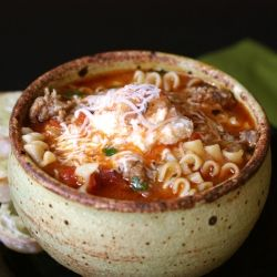 "Lasagna soup. Another pinner said: ""Amazing with a capital A. I had SO much left over and I didn't even mind eating it every day for a week :-)"""
