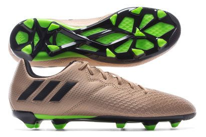 Adidas Messi 16.3 Kids FG Football Boots Designed for the greatest. Built for creativity. Unleash skills upon the game with these adidas Messi 16.3 FG Kids Football Boots in Copper Metallic, Core Black and Solar Green.Coming from the adidas  http://www.MightGet.com/april-2017-2/adidas-messi-16-3-kids-fg-football-boots.asp