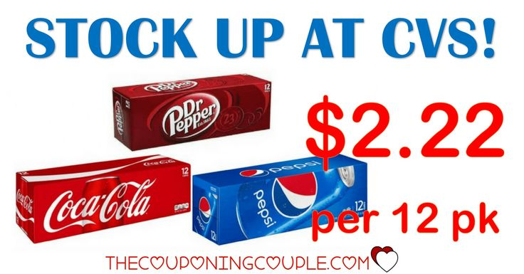 STOCK UP! Coke, Pepsi and Dr Pepper 12 Packs are a final price of only $2.22 each at CVS! Grab enough for the football parties!   Click the link below to get all of the details ► http://www.thecouponingcouple.com/coke-pepsi-dr-pepper/ #Coupons #Couponing #CouponCommunity  Visit us at http://www.thecouponingcouple.com for more great posts!
