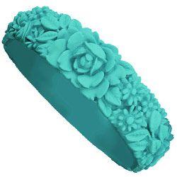 Big Flower Bracelet - Turquoise