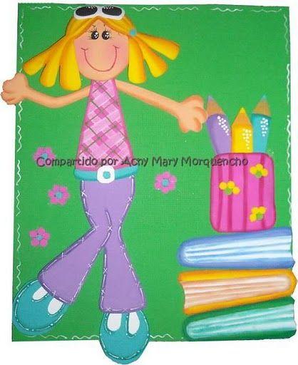 Nena con cuadernos - Todo en Goma Eva
