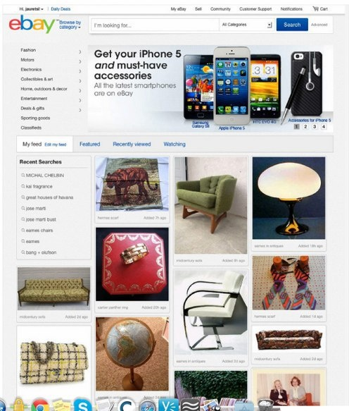 Pulling From More Than 400M Listings, eBay's Pinterest-Like, New Personalized Home Page Experience Rolls Out