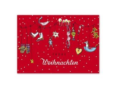 Postkarte Dezember - DIN A6 von Krima & Isa