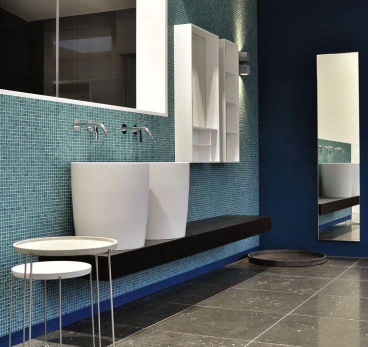 #Washbasin: ENTASI Open elements: AUREA and VANO #Wood finish: ACACIA COMBUSTA SIGN » #design #bathroom #interiordesign #madeinitaly #quality #Amsterdam