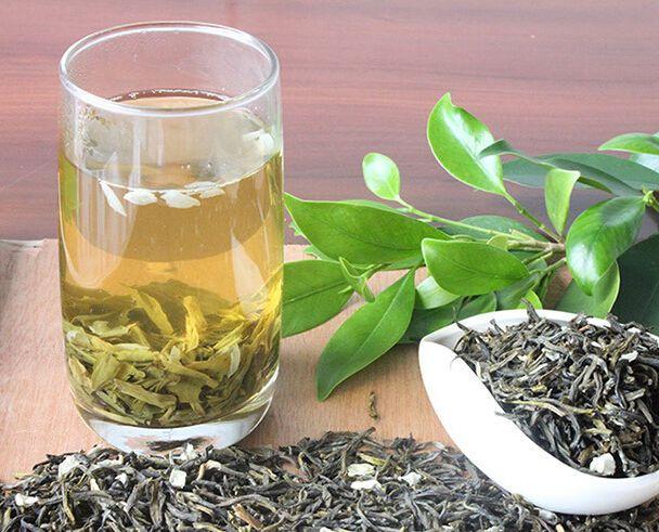 Jasmine green tea high grade with 350 grams loose leaf bag packing #JOHNLEEMUSHROOM
