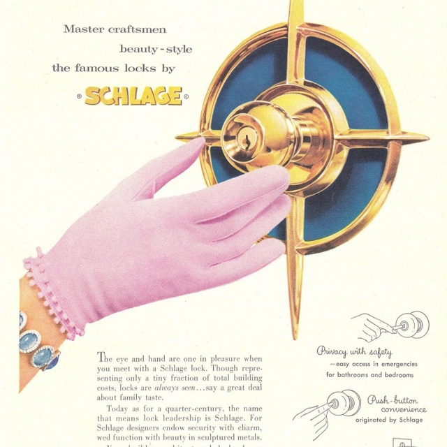 1958 Vintage Schlage Locks Ad ~ The Jewels Of Home, Vintage Hardware U0026  Paint Ads