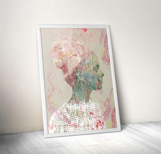 dodatki - plakaty, ilustracje, obrazy - grafika-GRAFIKA 100x70 różowa
