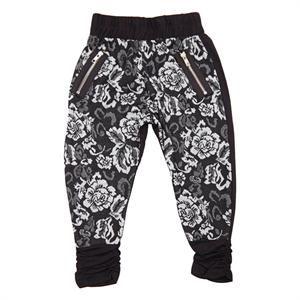 Sweat bukser med off whiter blomster fra Kids-Up - Sif Pants.