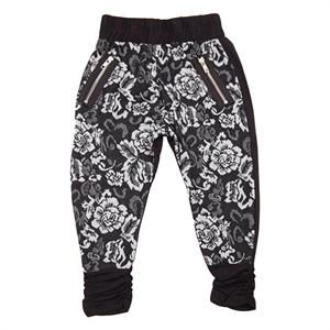 Sweat bukser med off whiter blomster fra Kids-Up - Sif Pants.