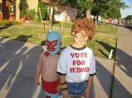 OMG...nacho libre and napolean dynamite...2 of my faves...im hoping to have a boy this time around, he will have no option but to be these for hals !