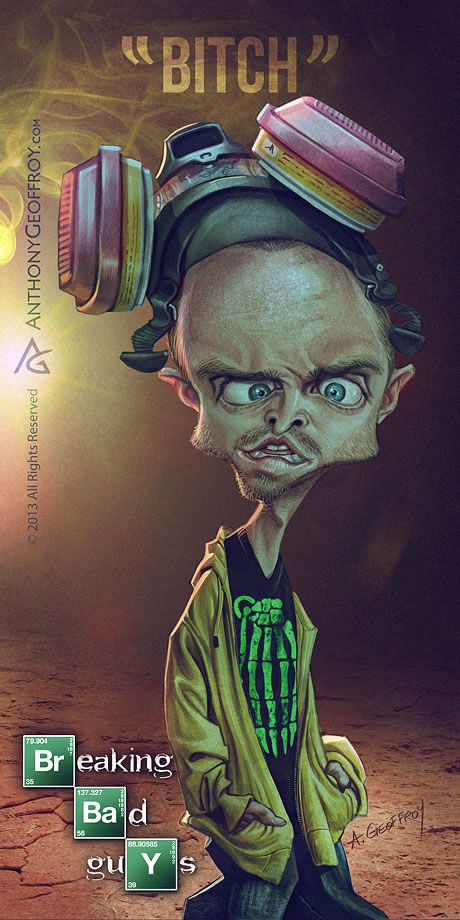 Caricatures Breaking Bad 1 Illustration : Caricatures Breaking Bad par Anthony Geoffroy