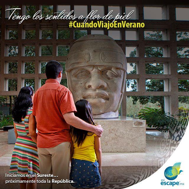 #CuandoViajoEnVerano aprendo junto a mis hijos sobre las raíces culturales de los jarochos. ¡Visita en familia el Museo de Antropología de Xalapa! Una escapada a un increíble precio. Visita www.miescape.mx #Viajero #México #Turismo #Viajes #Vacaciones #Veracruz