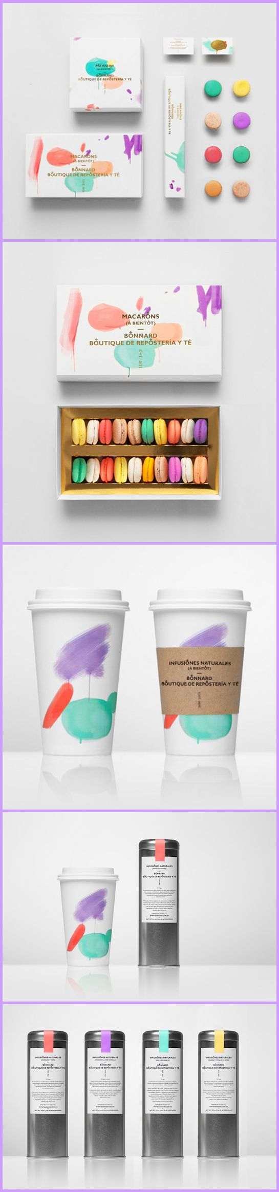 Beautiful, art-inspired packaging for a French-style tea house