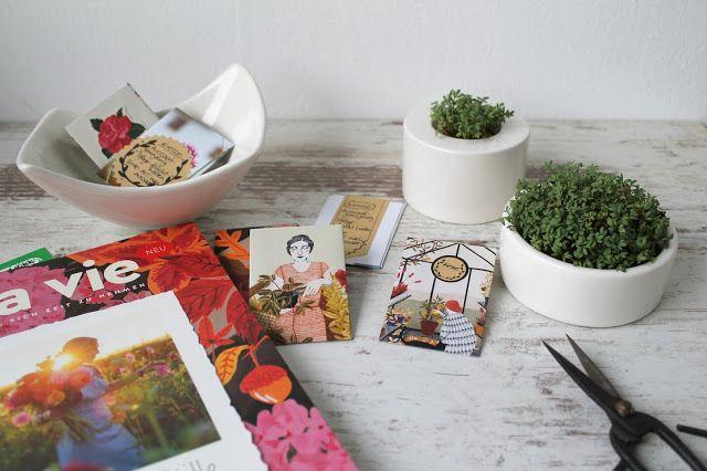 DIY Samentuetchen Upcycling aus alten Zeitschriften
