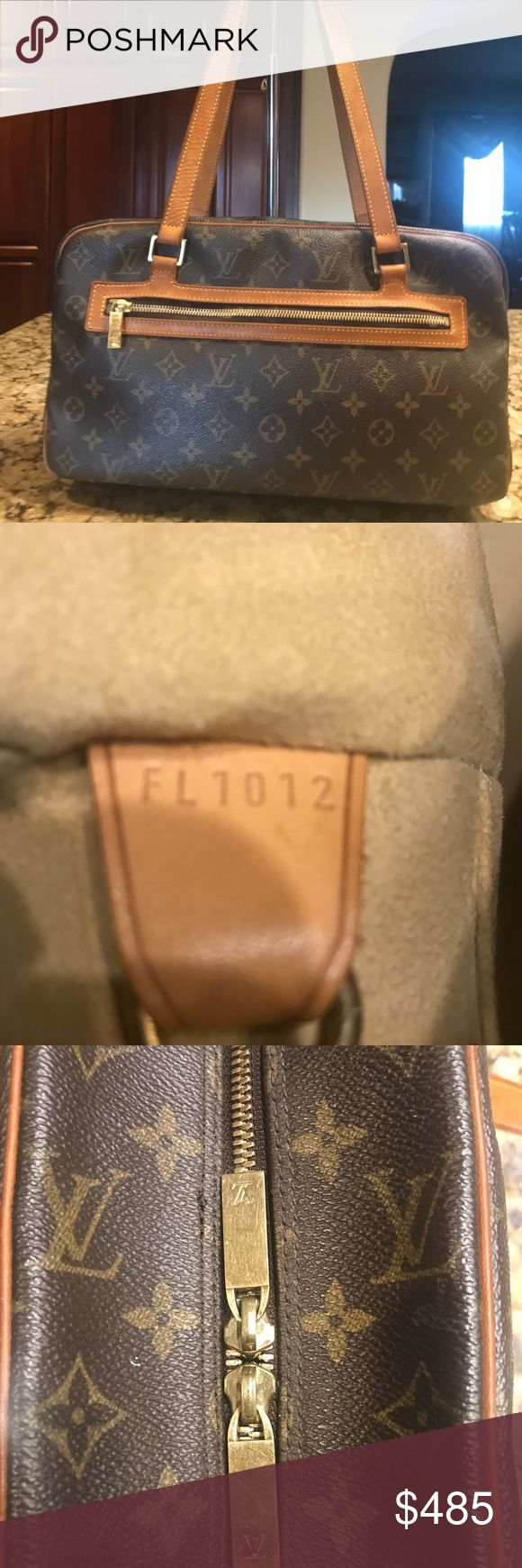 Authentic LV monogram cite MG shoulder bag 🌺this absolutely beautiful bag is in very prestige condition. Canvas, piping, vachetta is intact, inside is a nice velvety beige lining with pockets. It's great for everyday use very roomy. Vachetta has a honey gold color no cracks, no odor. Made in France 🇫🇷 code FL1012. This beauty won't last🌹 🌺TO NEGOTIATE PRICE PLEASE USE THE OFFER FEATURE 🌺 Louis Vuitton Bags Shoulder Bags