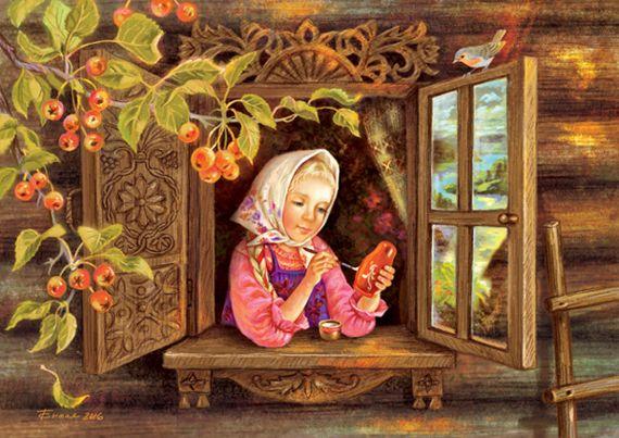 Сообщество иллюстраторов | Иллюстрация Таня Сытая / Tanya Sitaya - Матрёшка. Книжная графика. Растровая (цифровая) графика