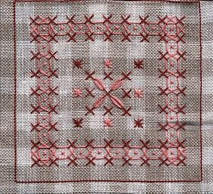 broderie suisse on gingham