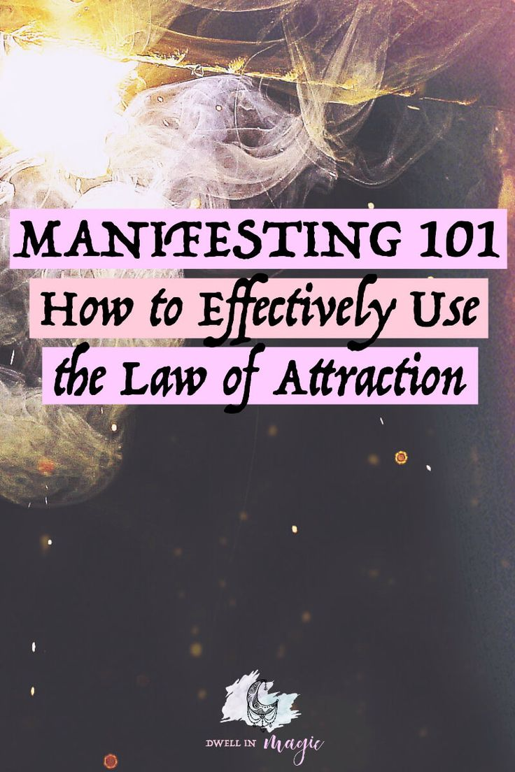 Easy to read blog post on how to start using the most powerful and magical universal law - the law of attraction #lawofattraction #manifesting #manifestingtips #magick
